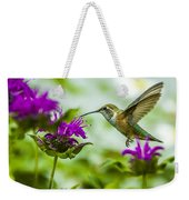 Calliope Hummingbird At Bee Balm Weekender Tote Bag