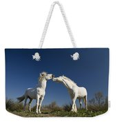 Camargue Horse Equus Caballus Stallions Weekender Tote Bag