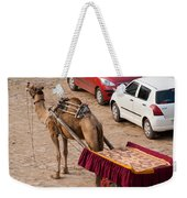 Camel Ready To Take Tourists For A Desert Safari Weekender Tote Bag