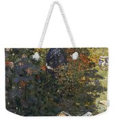 Camille And Jean In The Garden At Argenteuil  Weekender Tote Bag
