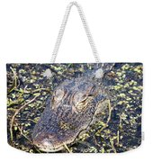 Camouflaged Gator Weekender Tote Bag by Carol Groenen