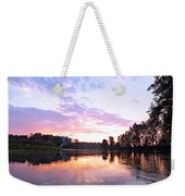 Camp Fire Sunset Weekender Tote Bag