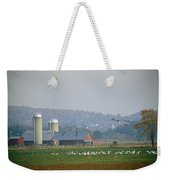 Canada Geese And Other Birds Fill Weekender Tote Bag