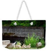 Canada Geese With Goslings Weekender Tote Bag
