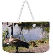 Canadian Geese At Trojan Lake Ny Weekender Tote Bag