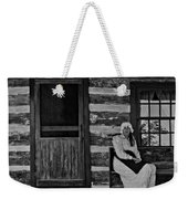 Canadian Gothic Monochrome Weekender Tote Bag