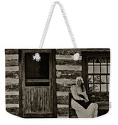Canadian Gothic Sepia Weekender Tote Bag