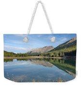 Canadian Rockies Rocky Mountain Lake Weekender Tote Bag