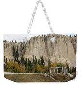 Canadian Rocky Mountains Hoodoos Weekender Tote Bag