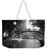 Canal Of St. Martin Bw Weekender Tote Bag