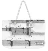 Canals: Languedoc Canal Weekender Tote Bag by Granger