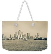 Canary Wharf Cityscape Weekender Tote Bag