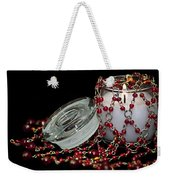 Candle And Beads Weekender Tote Bag by Carolyn Marshall