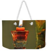 Candle And Colored Glass Weekender Tote Bag