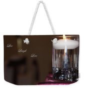 Candle - Live Laugh Love Weekender Tote Bag