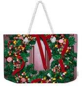 Candy Christmas Wreath Weekender Tote Bag