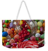 Candy Jar Spilling Candy Weekender Tote Bag by Garry Gay