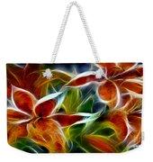 Candy Lily Fractal  Weekender Tote Bag by Peter Piatt