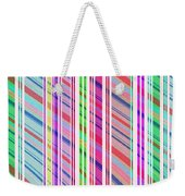 Candy Stripe Weekender Tote Bag