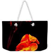 Canna Lilies On Black Weekender Tote Bag