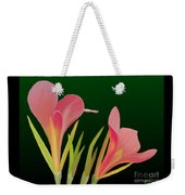 Canna Lilly Whimsy Weekender Tote Bag