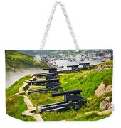 Cannons On Signal Hill Near St. John's Weekender Tote Bag by Elena Elisseeva