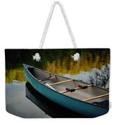 Canoe And Reflections On A Still Lake Weekender Tote Bag