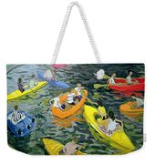 Canoes Weekender Tote Bag by Andrew Macara