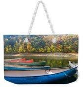 Canoes At Fontana Weekender Tote Bag