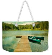 Canoes At The End Of The Dock Weekender Tote Bag