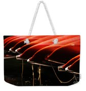 Canoes Of Red Weekender Tote Bag by Bob Christopher