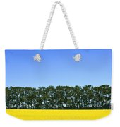 Canola Field And Trees Weekender Tote Bag