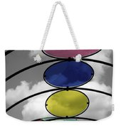 Canopy Black And White Abstract Weekender Tote Bag