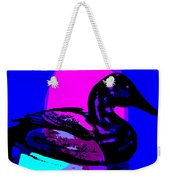 Canvasback Floating At Sunrise Weekender Tote Bag