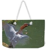Canvasback In Action Weekender Tote Bag
