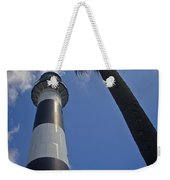 Cape Canaveral Lighthouse With Palm Tree Weekender Tote Bag