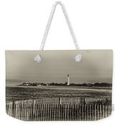 Cape May Light House In Sepia Weekender Tote Bag