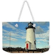 Cape Pogue Lighthouse Marthas Vineyard Weekender Tote Bag
