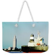 Capitol View Mississippi River Weekender Tote Bag