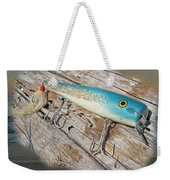 Cap'n Bill Swimmer Vintage Saltwater Fishing Lure Weekender Tote Bag