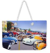 Car Show By The Lake Weekender Tote Bag