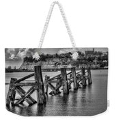 Cardiff Bay Old Jetty Supports Mono Weekender Tote Bag