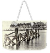 Cardiff Bay Old Jetty Supports Opal Weekender Tote Bag