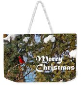 Cardinal Christmas Card Weekender Tote Bag