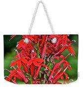 Cardinal Flower Full Bloom Weekender Tote Bag