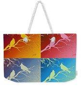 Cardinals Love 2 Pop Art Weekender Tote Bag