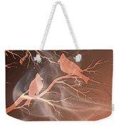 Cardinals Love Digital Art Weekender Tote Bag