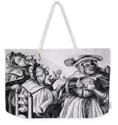 Caricature Of Three Alcoholics, 1773 Weekender Tote Bag