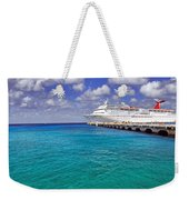 Carnival Elation Docked At Cozumel Weekender Tote Bag