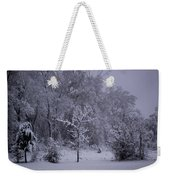 Carolina Snowfall Weekender Tote Bag